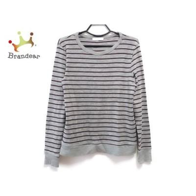 ロンハーマン 長袖セーター サイズS メンズ グレー×ブラウン×ダークネイビー TEN/ボーダー     スペシャル特価 20210115