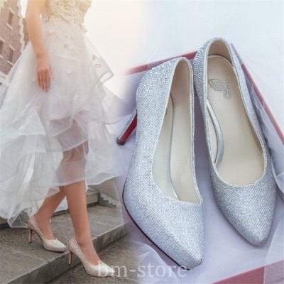 ハイヒール靴パンプス美脚きれいめポインテッドトゥおしゃれレディースシューズ厚底痛くないウエディング用結婚式ピンヒール大きいサイズ