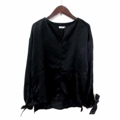 【中古】ミスティック mystic シャツ ブラウス 長袖 F 黒 ブラック /YI レディース