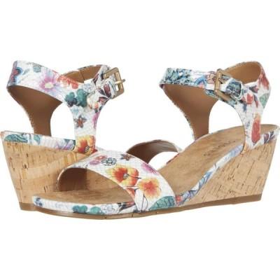 エアロソールズ Aerosoles レディース サンダル・ミュール シューズ・靴 Carago White Floral Multi