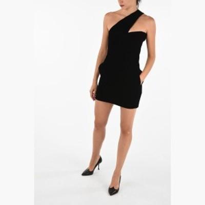SAINT LAURENT PARIS/イヴ サンローラン ドレス Black レディース Chenille One Shoulder Dress dk