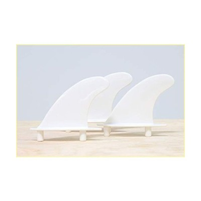 South Bay Board Co. - Universal Soft Top Surfboard Fins - Safe Round-Edged Fins for Foam Surf Boards (White)【並行輸入品】