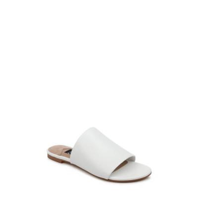 ザックポーゼン サンダル シューズ レディース Viola Slide Sandal White Nappa Leather