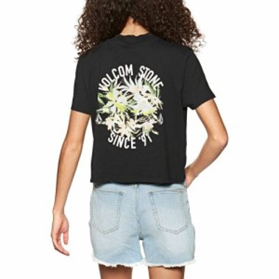 ボルコム Volcom レディース Tシャツ ポケット トップス pocket dial short sleeve t-shirt Black