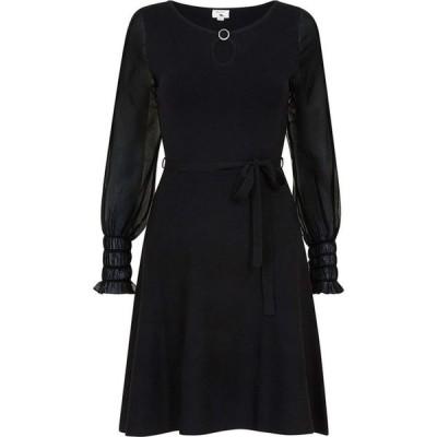 ユミ Yumi レディース ワンピース スケータードレス ワンピース・ドレス Black Georgette Skater Dress Black
