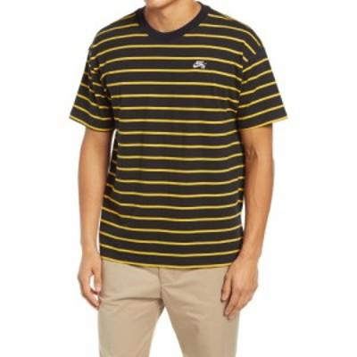 ナイキ NIKE SB メンズ Tシャツ トップス Stripe Skateboard T-Shirt Black/University Gold