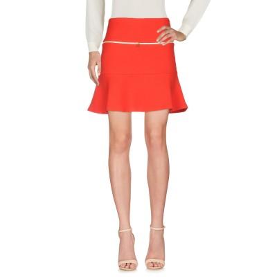 SANDRO ひざ丈スカート レッド 3 コットン 96% / ポリウレタン 4% ひざ丈スカート
