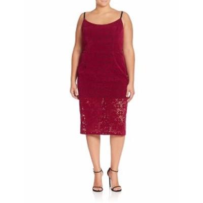 ABS プラスサイズ レディース ワンピース Floral Lace Sheath Dress