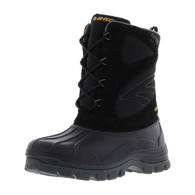 スノーシューイング クリア ウェザー Hi-Tec Men's Hokkaido Waterproof Mid-Calf Snow Boot