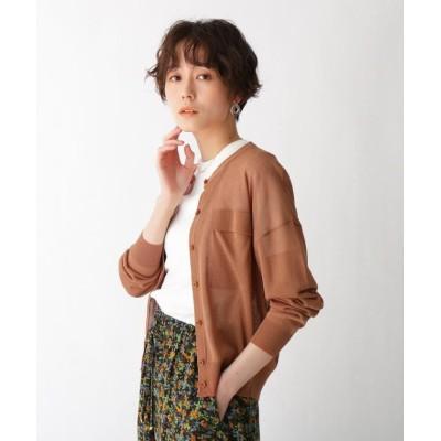 【AG バイ アクアガール】 ポケットデザインシアーカーディガン レディース ダーク オレンジ 38(M) AG by aquagirl