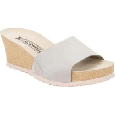 メフィスト Mephisto レディース サンダル・ミュール ウェッジソール スライドサンダル シューズ・靴 Lise Wedge Slide Sandal Light Gre