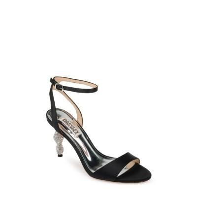 バッジェリーミシュカ レディース サンダル シューズ Evamarie Embellished Statement Heel Sandal BLACKSATIN