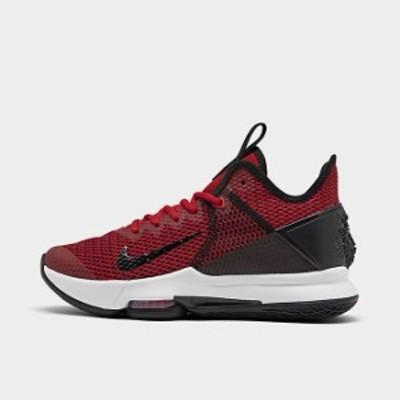 ナイキ メンズ レブロンウィットネス4 Nike LeBron Witness 4 バッシュ Black/Gym Red/University Red