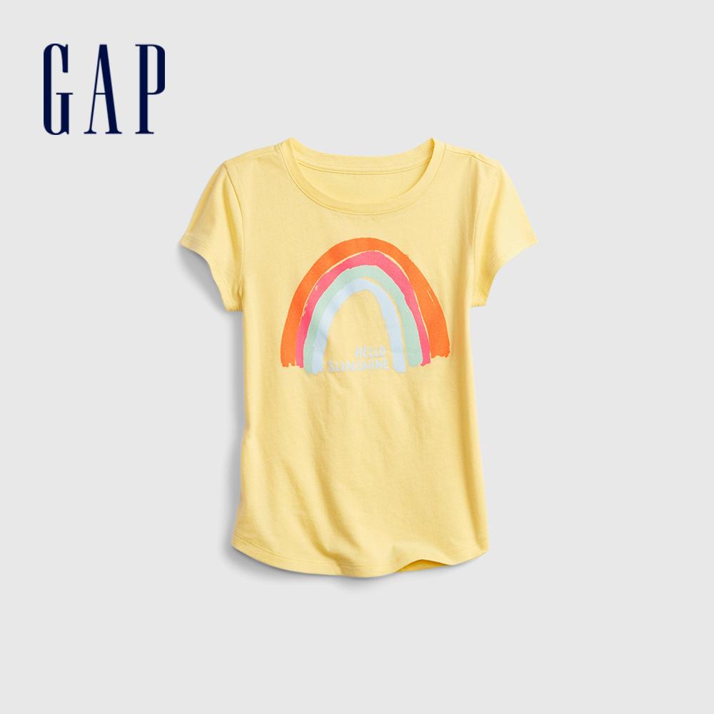 Gap 女童 清新花卉印花短袖T恤 740158-黃色