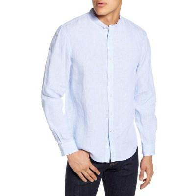 クラブ モナコ シャツ トップス メンズ Slim Fit Linen Button-Up Shirt Light Blue