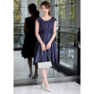 【エイミーパール(ドレス)】シャンタンバックラッフルドレス