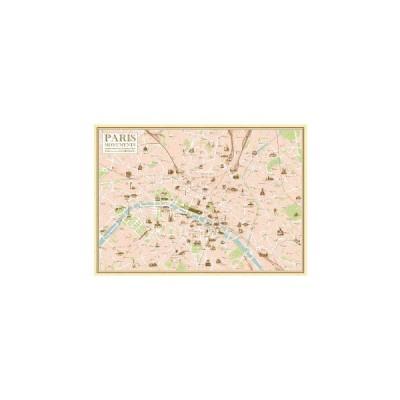 パリmapポスター【マップ/横柄】