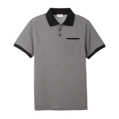 サンローラン SAINT LAURENT ポロシャツ ブラック メンズ 646081-y36bb-1407