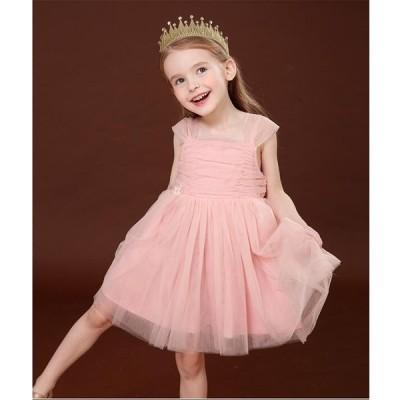 可愛い 発表会 子供ドレス 結婚式 女の子 キッズワンピース フォーマルドレス 子どもドレス お姫様 フラワーガール 子供服 誕生日 七五三 韓国風 演奏会