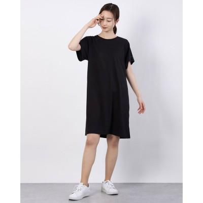 プーマ PUMA レディース ワンピース デザイン Tシャツドレス 589188 (ブラック)