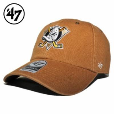 47ブランド カーハート コラボ ストラップバックキャップ 帽子 メンズ レディース 47BRAND CARHARTT NHL アナハイム マイティーダックス