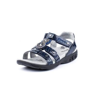 セラフィット THERAFIT レディース サンダル・ミュール シューズ・靴 Shoe Charlotte Embossed Jeweled Adjustable Sandal Navy