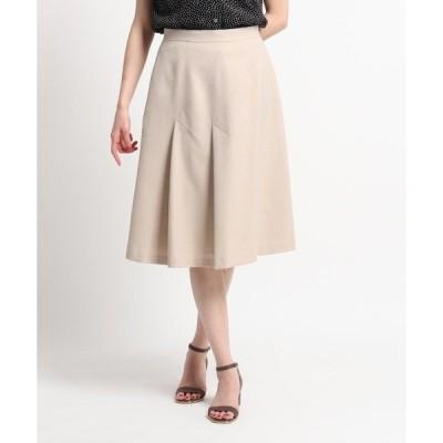 スカート 【洗える】斜め切替えデザインフレアスカート