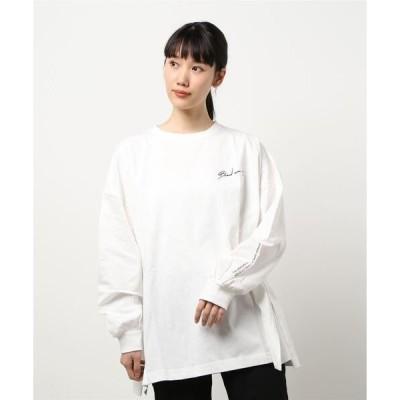 tシャツ Tシャツ ユニセックス バックプリント ポラロイド オーバーサイズ ロングTシャツ