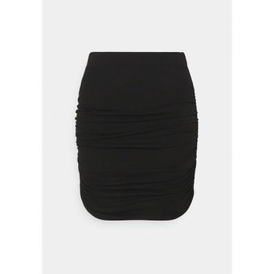 オブジェクト プティ スカート レディース ボトムス OBJLUCA PAPE SKIRT - Mini skirt - black
