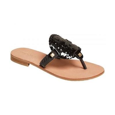 Jack Rogers ジャックロジャース レディース 女性用 シューズ 靴 サンダル Georgica Patent Sandal - Black