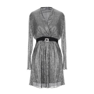 ジャストカヴァリ JUST CAVALLI ミニワンピース&ドレス シルバー 40 ポリエステル 100% ミニワンピース&ドレス