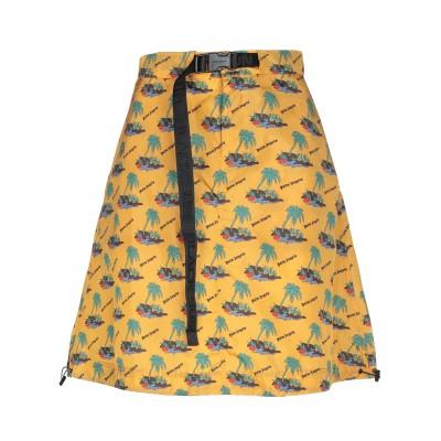 パーム・エンジェルス PALM ANGELS ひざ丈スカート オークル 40 ナイロン 100% ひざ丈スカート