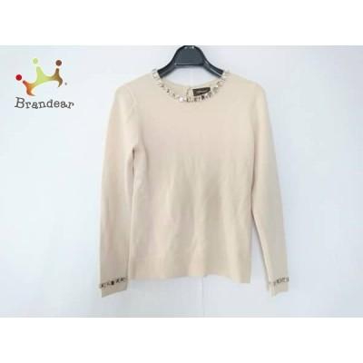 ジャスグリッティー JUSGLITTY 長袖セーター サイズ2 M レディース ベージュ ビジュー     スペシャル特価 20201204