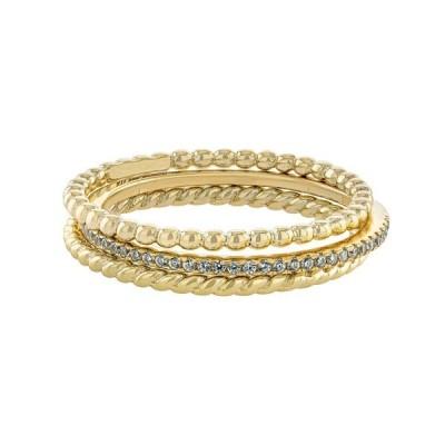 ジャニ ベルニーニ リング アクセサリー レディース Cubic Zirconia and Twisted Band Beaded Stackable Ring Trios in Gold Over Sterling Silver Gold