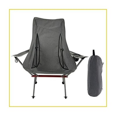 LMSHA Ultralight High Back Folding Camping Chair, with Headrest Side Pocket and Carry Bag, Backpacking Compact for Outdoor Camping Travel Hi