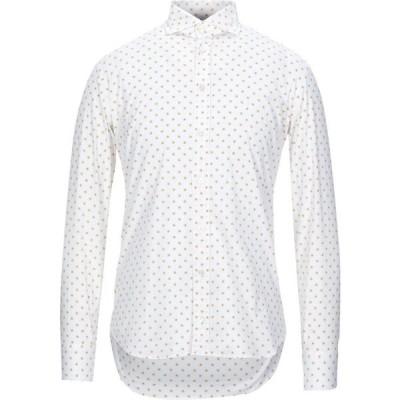 バストンチーノ BASTONCINO メンズ シャツ トップス Patterned Shirt White