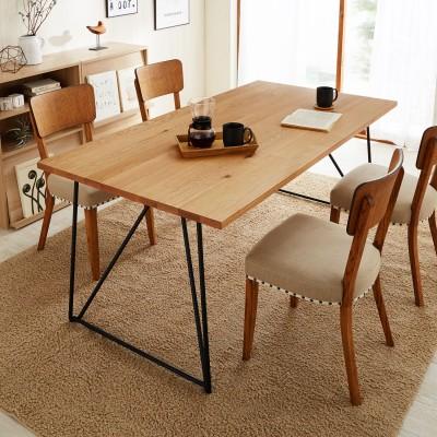 オーク材天板の脚を選べるダイニングテーブル<4人用/6人用>
