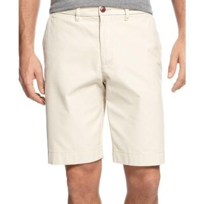"""トミー ヒルフィガー カジュアルパンツ ボトムス メンズ Men's Big and Tall 8 1/2"""" Chino Shorts Sand Khaki"""