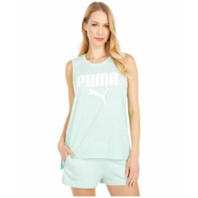 プーマ レディース シャツ トップス Muscle Tank Mist Green Heather/Puma White