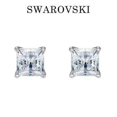 スワロフスキー SWAROVSKI スタッドピアス ホワイト スクエア 5509936