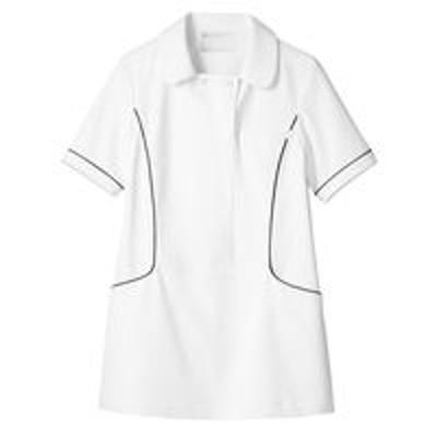 住商モンブラン住商モンブラン ナースジャケット(半袖) 医療白衣 レディス 白/ネイビー S 73-1888(直送品)