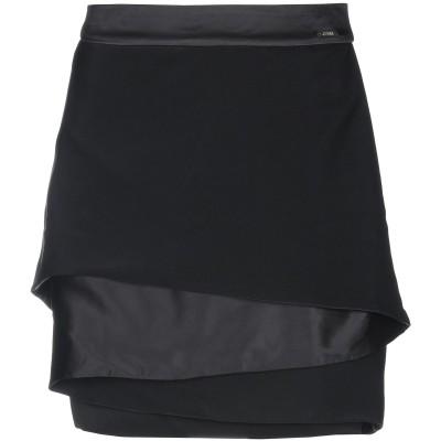 ゲス GUESS ミニスカート ブラック 25 ポリエステル 100% ミニスカート