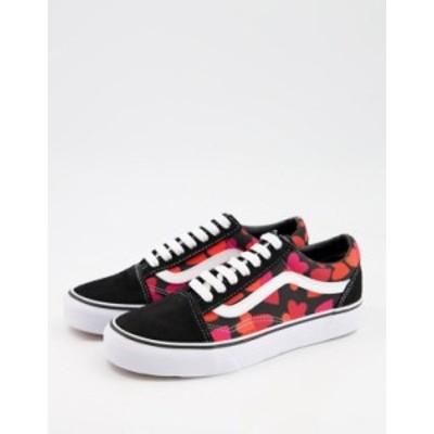 バンズ レディース スニーカー シューズ Vans UA Old Skool sneakers in black/purple Black