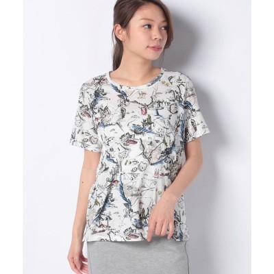 レリアン マップイラストTシャツ(ホワイト)