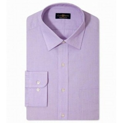 One  ファッション ドレス Club Room NEW Purple Mens Size 16 1/2 Classic Fit One Pocket Dress Shirt