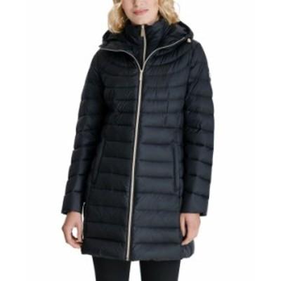マイケルコース レディース コート アウター Hooded Packable Down Puffer Coat Black