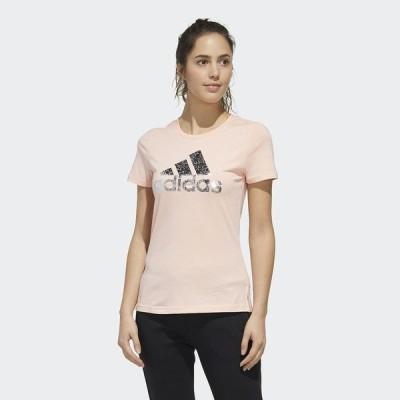 adidas アディダス W GFX FOIL BOS Tシャツ GZO73 FM9293 レディーススポーツウェア Tシャツ レディース ヘイズコーラル セール