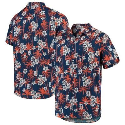 ユニセックス スポーツリーグ メジャーリーグ Detroit Tigers Floral Button-Up Shirt - Navy Tシャツ