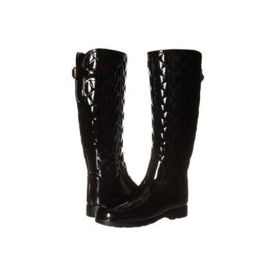 ハンター レディース ブーツ・レインブーツ シューズ Refined Gloss Quilt Tall Rain Boots