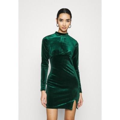 グラマラス ワンピース レディース トップス LONG SLEEVE DRESS - Shift dress - forest green